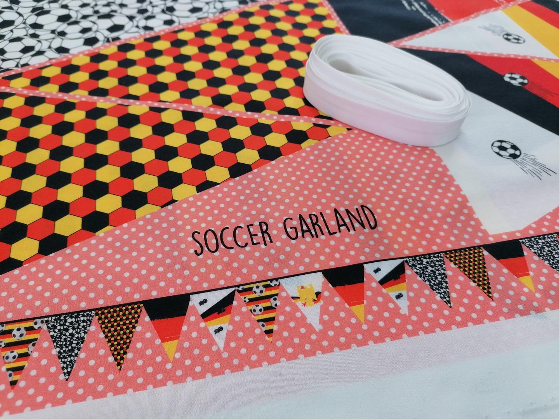 Fußball Angebot Panel Nähset Wimpelkette Deutschland