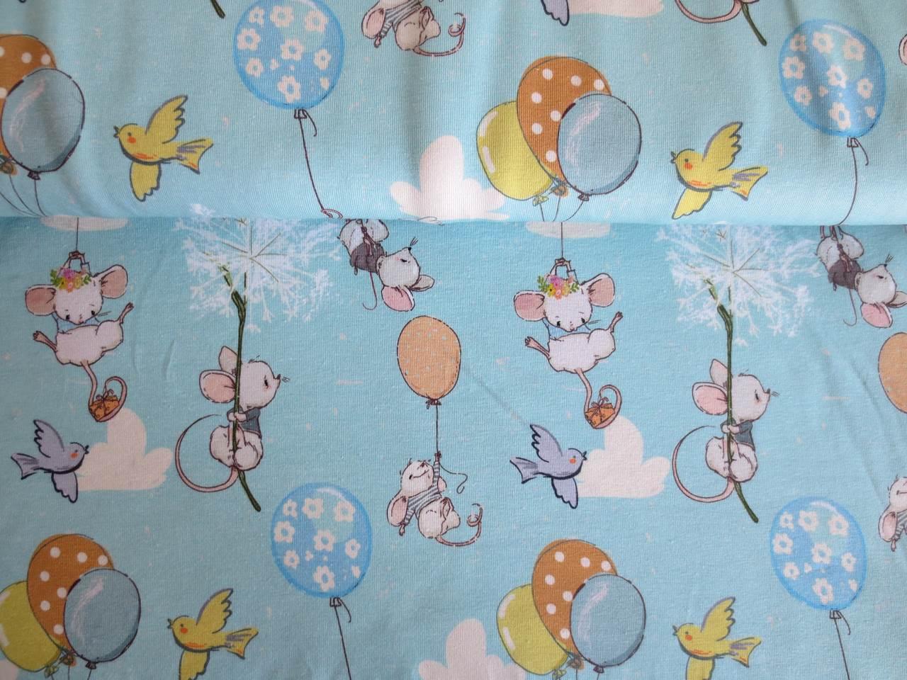 05m Jersey Mäuse am Luftballon von