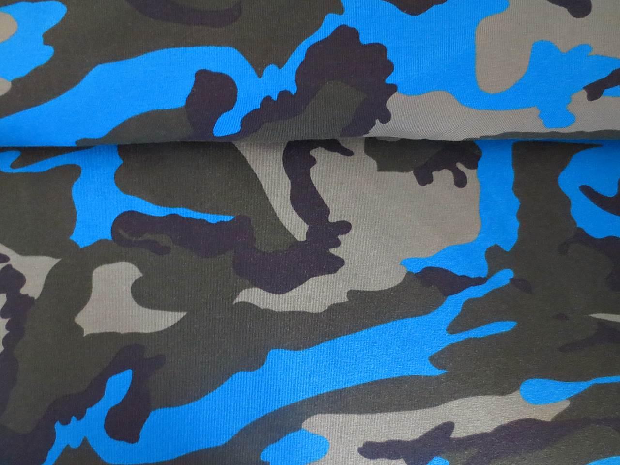 05m Jersey Camouflage natogrün taupe mittelblau