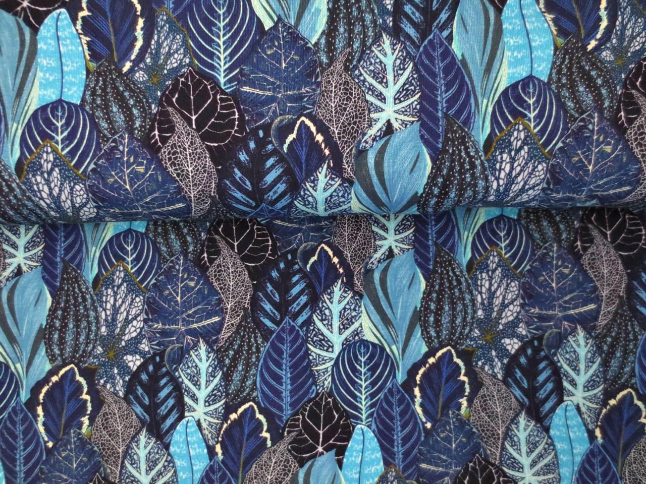 05m Jersey Blätterwald blau