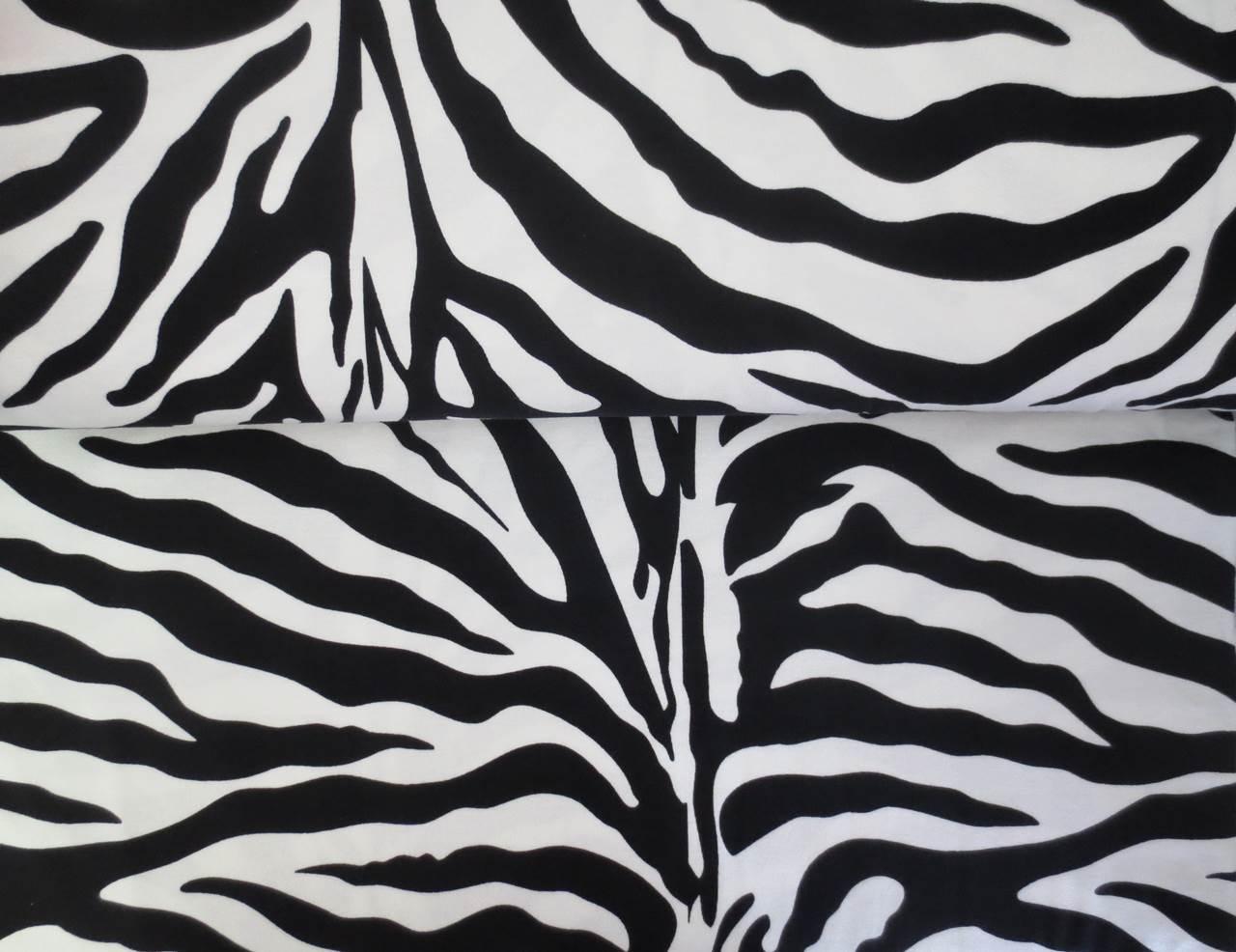 05m Jersey Zebramuster schwarz weiß