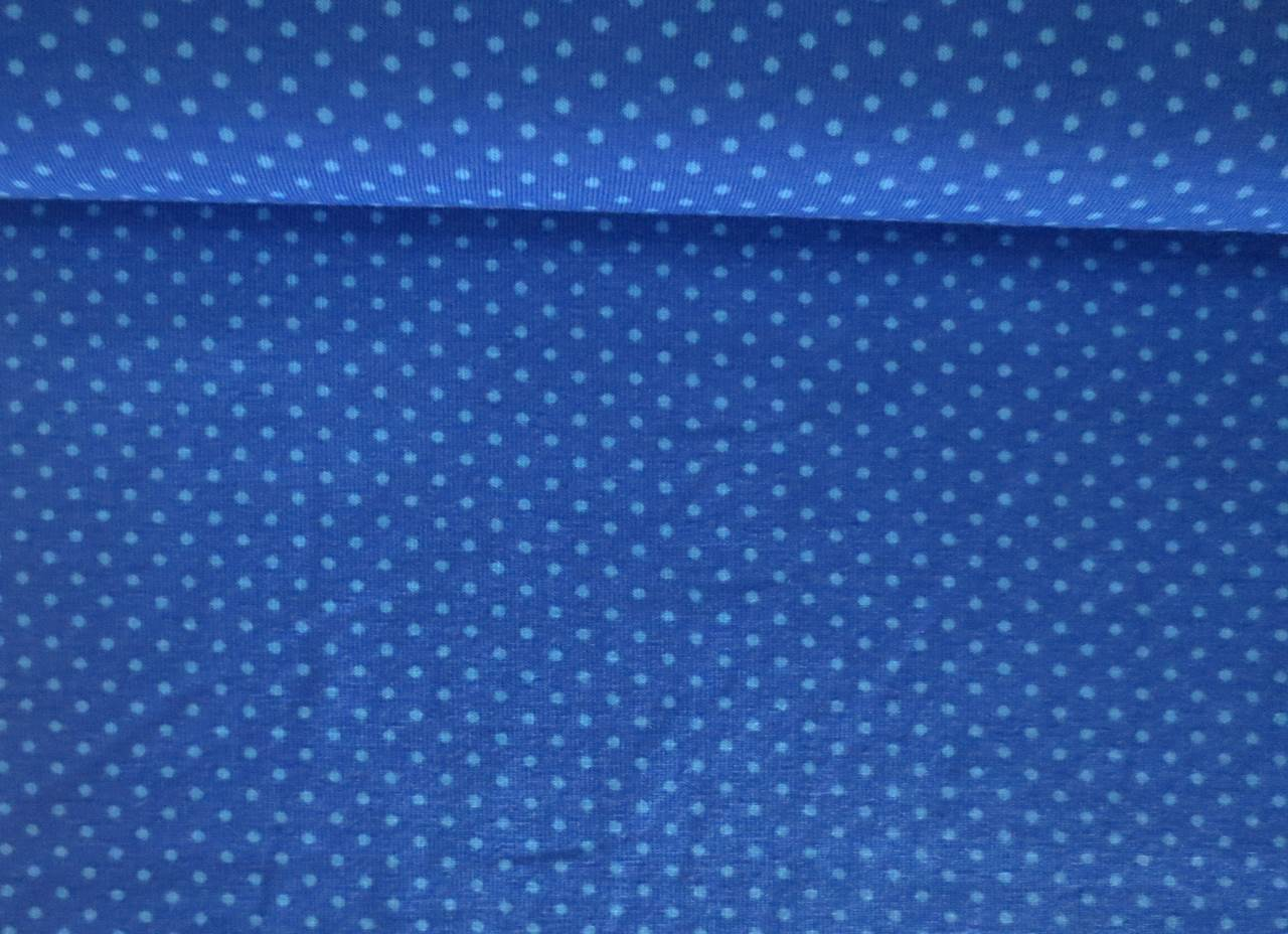 Meter Jersey Dots Kleine Punkte königsblau