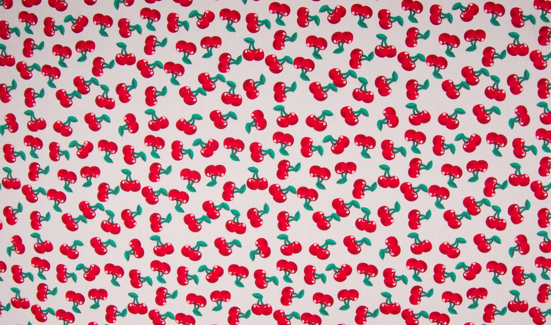 05m BW Cherry Kirschen weiß rot