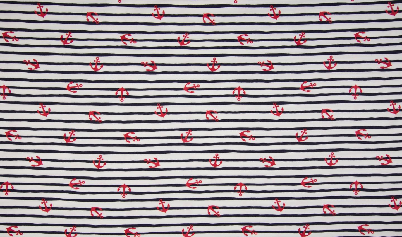 05m Jersey Maritim Stripes Anker weißt