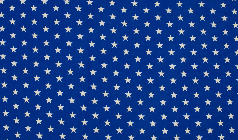 05m Jersey Kleine Sterne royal weiß