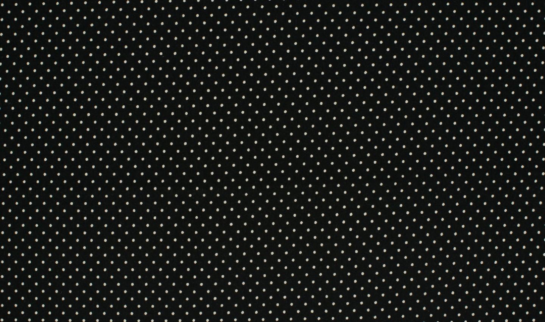 05m Jersey Mini Dots Punkte schwarz