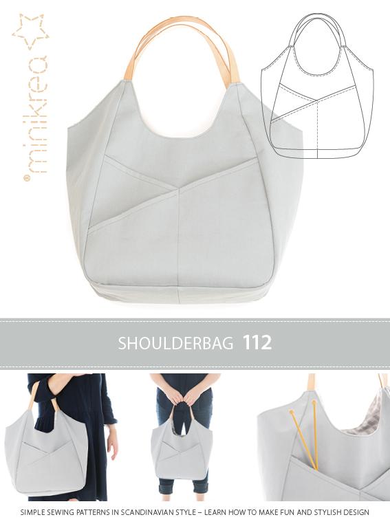 1 Schnittmuster Tasche Schultertasche Minikrea 2