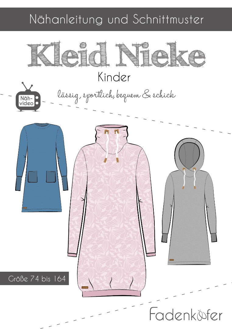 Papierschnittmuster Fadenkäfer Nieke Kids Gr 74-164