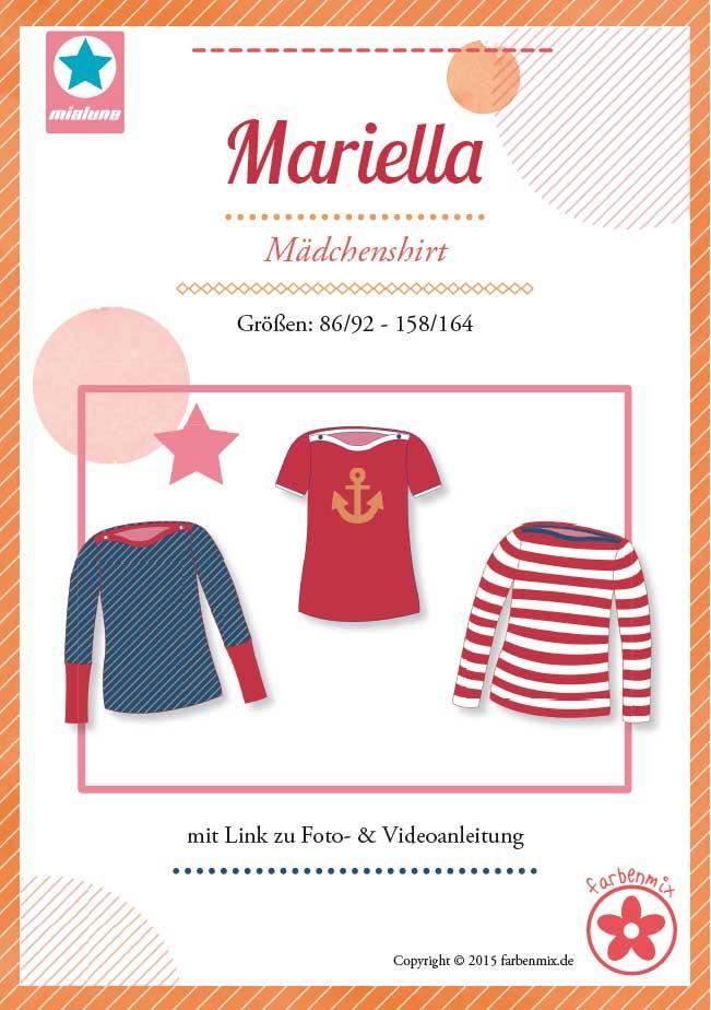 1Stk Mariella Mädchenshirt Papier Schnittmuster by