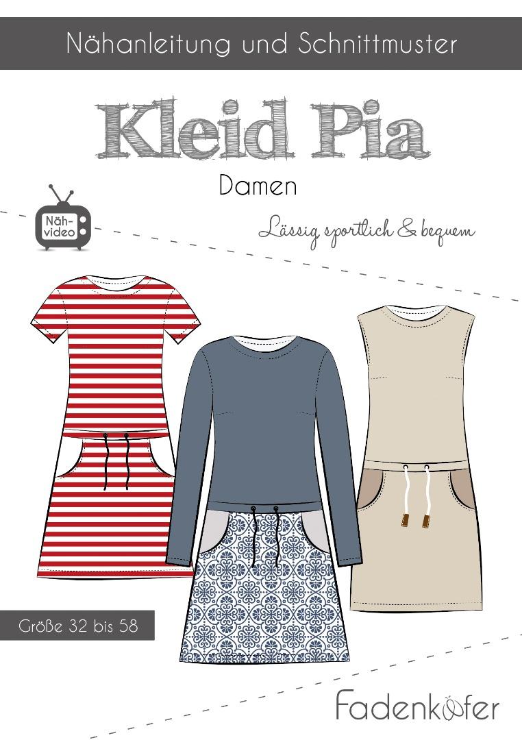 Papierschnittmuster Fadenkäfer Kleid Pia Damen Gr