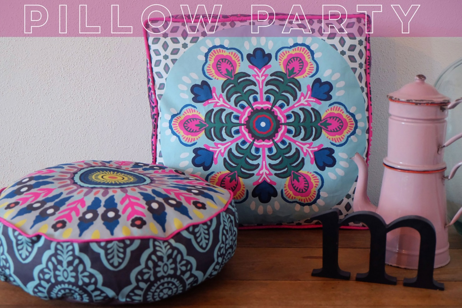 1Panel Dekostoff Pillow Party by jolijou