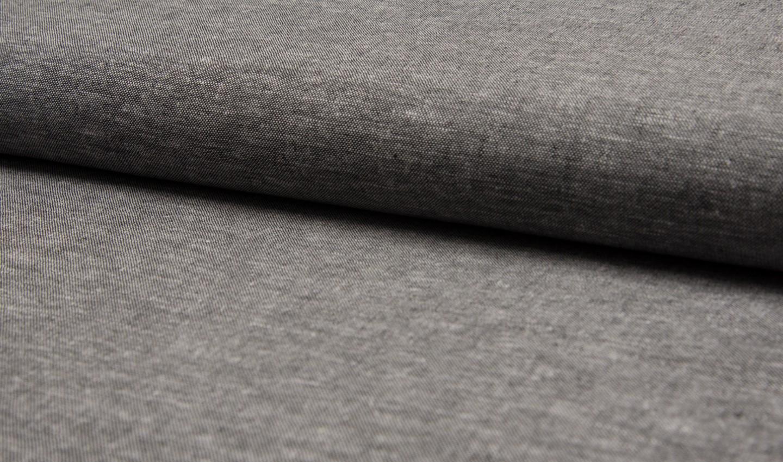 05m Leinen Viskose meliert schwarz grau