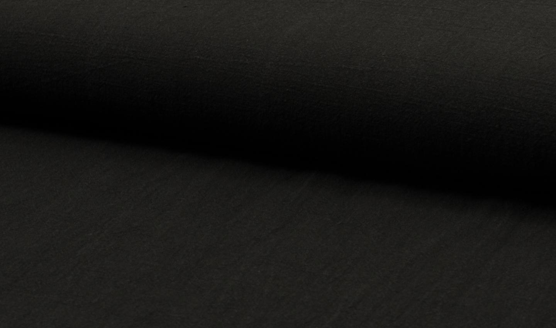 05m Leinen stonewashed schwarz