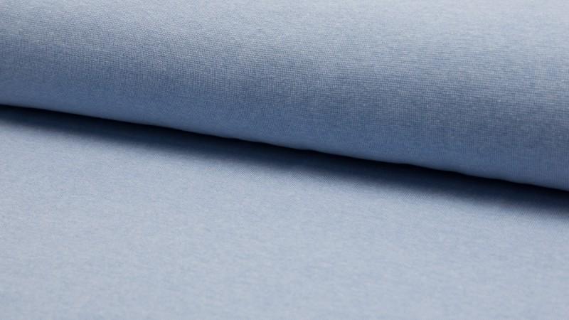 05m Bündchen glatt meliert hellblau