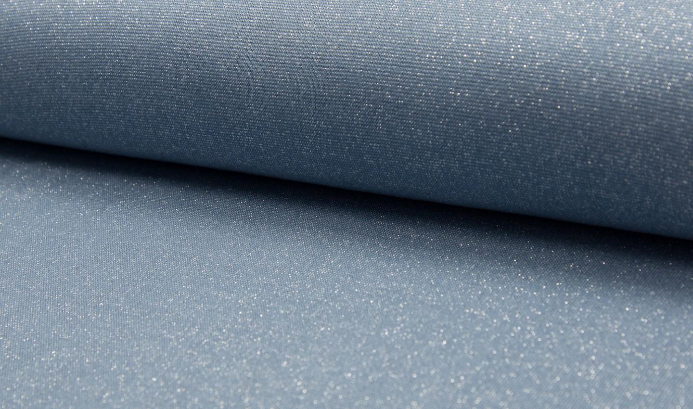 05m Bündchen Glitzer Lurex dusty blue