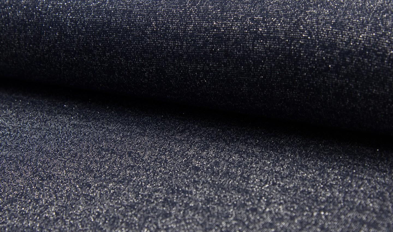 05m Bündchen Glitzer Lurex navy dunkelblau