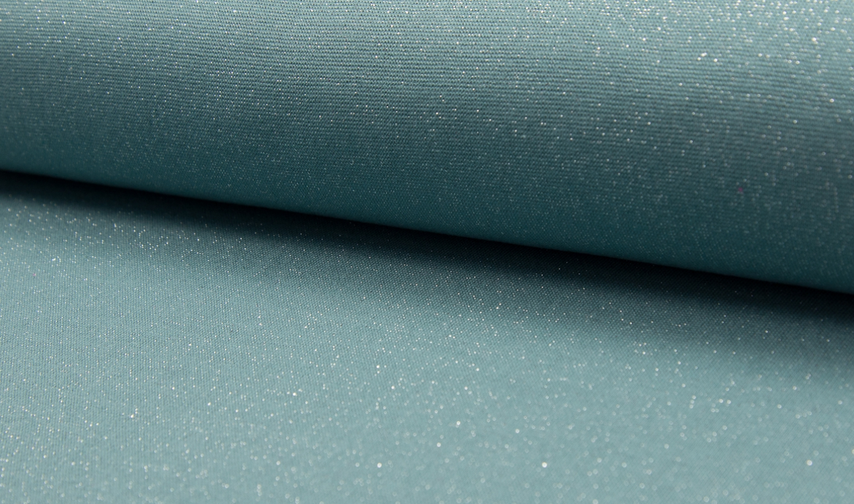 05m Bündchen Glitzer Lurex dusty mint