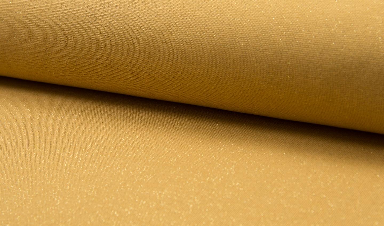 05m Bündchen Glitzer Lurex ocker gold