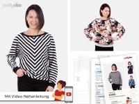 1Stk Josie Fledermausshirt Papier Schnittmuster by