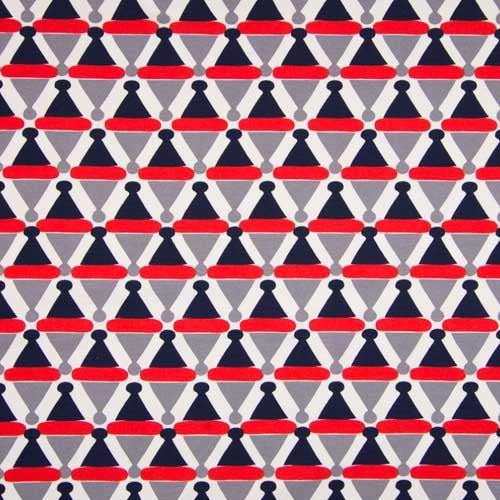 05m Jersey Graphische Dreiecke weiß dunkelblau
