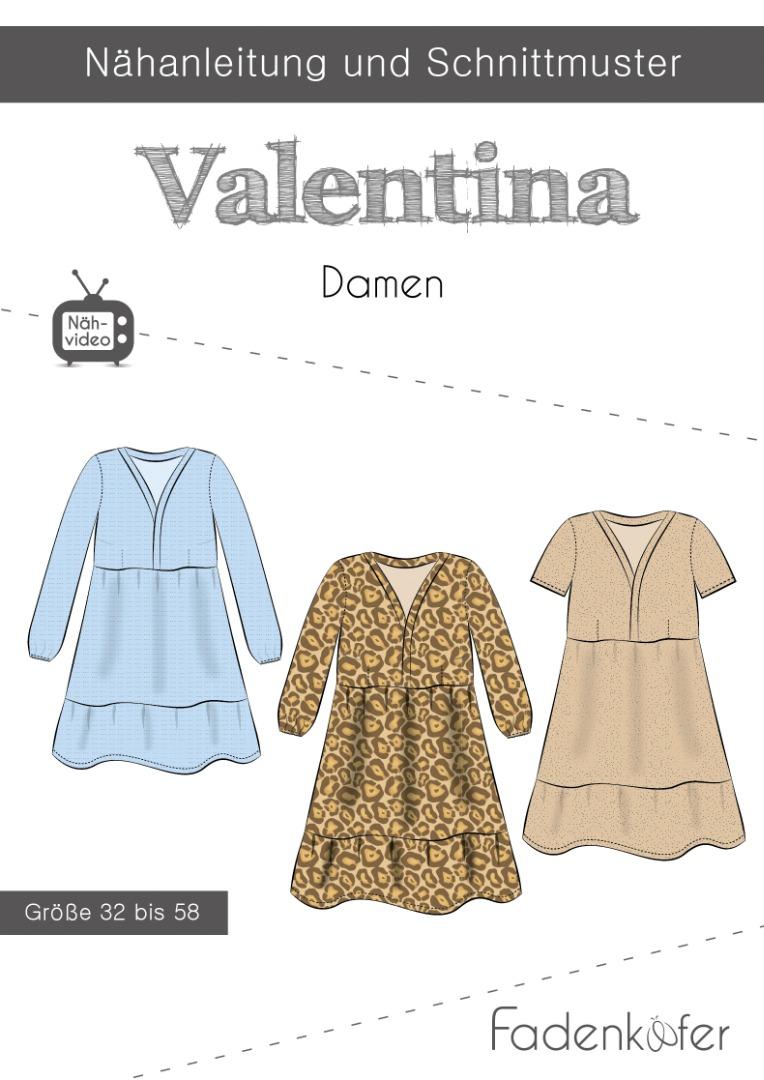 Papierschnittmuster Fadenkäfer Valentina Damen Gr 32-58