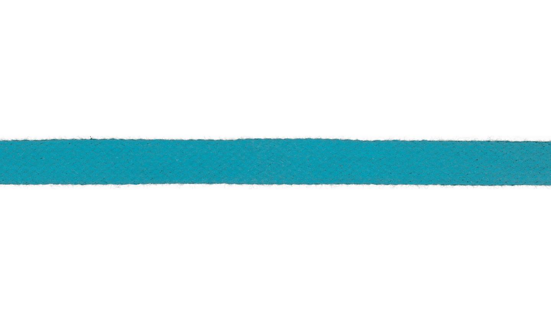 1m Baumwollkordel 12mm flach türkis