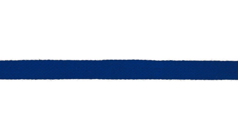 1m Baumwollkordel 12mm flach cobalt royalblau