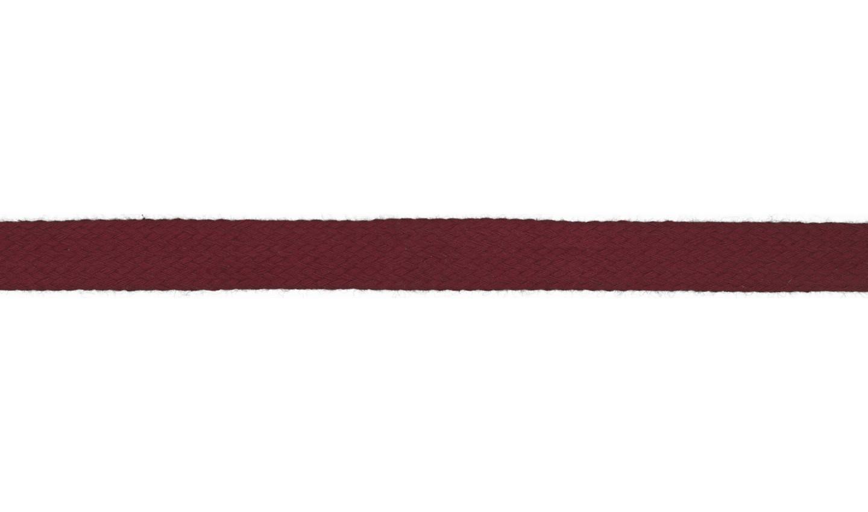 1m Baumwollkordel 12mm flach bordeaux dunkelrot