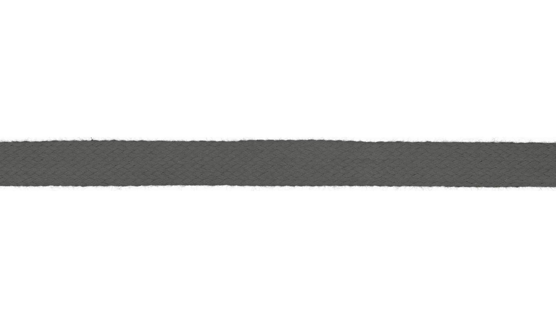 1m Baumwollkordel 12mm flach grau