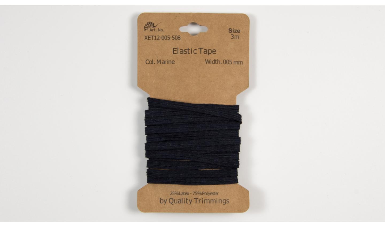 3m FLACHGUMMI Elastic Tape 5mm navy
