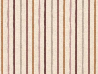 05m Canvas Leinen Look Streifen dusty