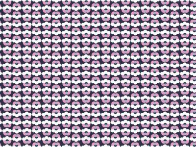 05m BW Moderne Blume lilablau weiß
