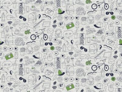 05m Jersey Streetstyle graumeliert schwarz grün