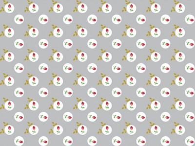 05m BW Eglantine Blumenpunkte by poppy