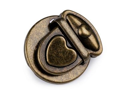 1 Stück Verschluß Herzknopf-Steckverschluß 3 teilig