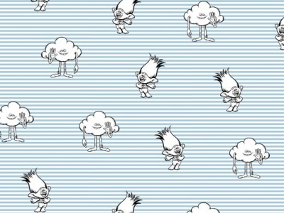 05m BW TROLLS und Wolkenmännchen auf