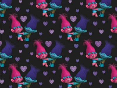 05m Jersey TROLLS schwarz pink lila