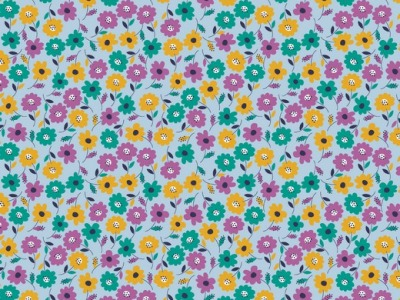 05m BW Flower Field by poppy