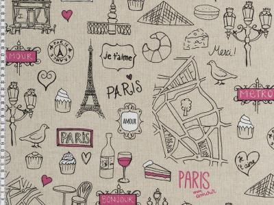 05m Canvas Leinen Look Paris naturfarben