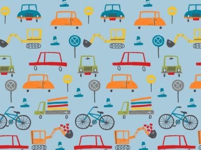 05m Jersey Fahrzeuge modern hellblau bunt
