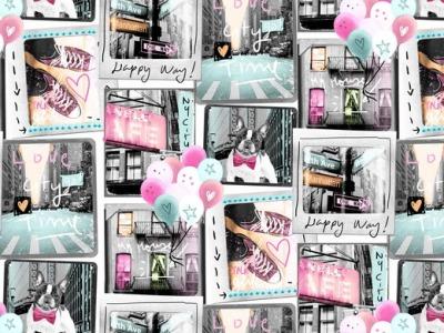 05m Jersey Ny City Collage Digitaldruck