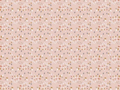 05m BW GOTS Confetti Sprenkel rose