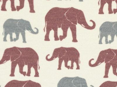05m Jersey THEO Elefanten ecru grau