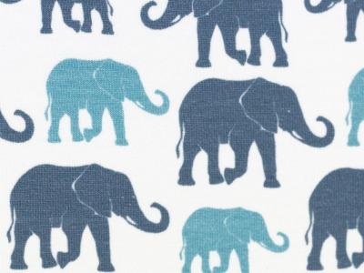 05m Jersey THEO Elefanten ecru türkis
