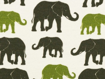 05m Jersey THEO Elefanten ecru oliv