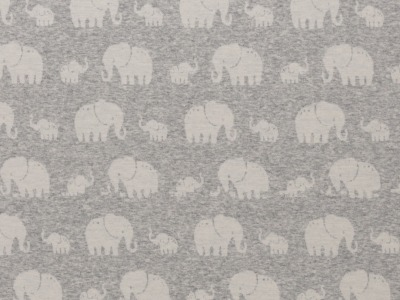 05m Jersey Jacquard Madita Elefanten meliert