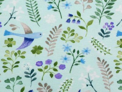 05m Jersey Little Spring Vögel Blätter