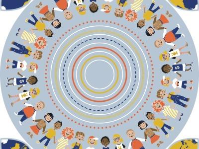 1Stk Panel Baumwolle Roundabout by käselotti