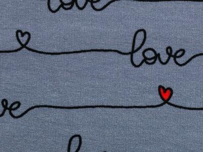 05m Sweat Rosie angerauht Schrift Love