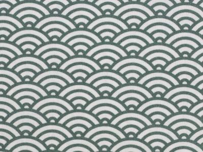 05m BW Kurt Muscheldesign grün weiß